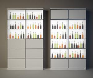 3ds max cabinet wine