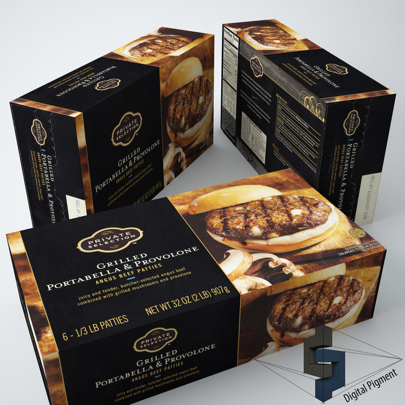 3d model private selection grilled portabella