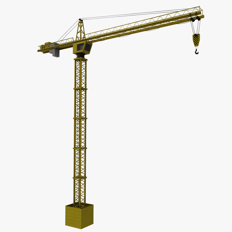 tower crane 3d max