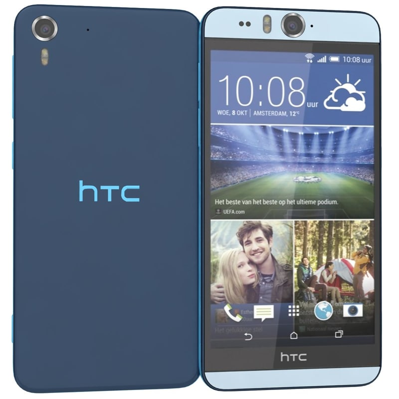htc desire eye blue 3d c4d