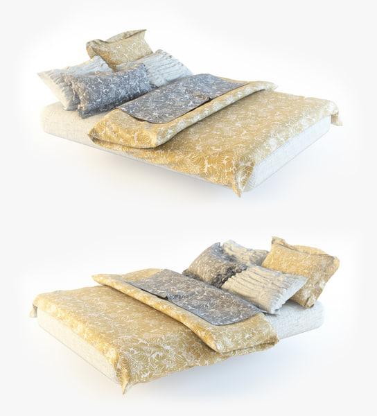 3d model bedclothes bed