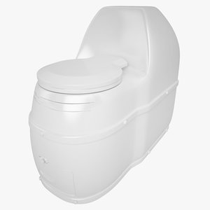 3d compact composting toilet model