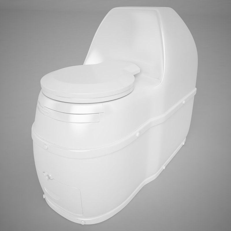 3d compact composting toilet model