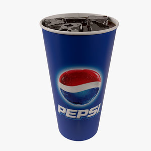 3ds max paper cup ice