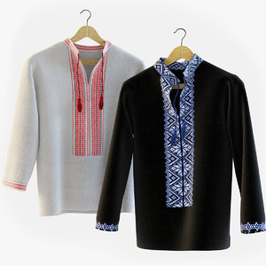 3d model embroidered shirts