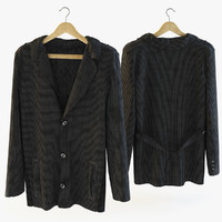 3d model corduroy jacket