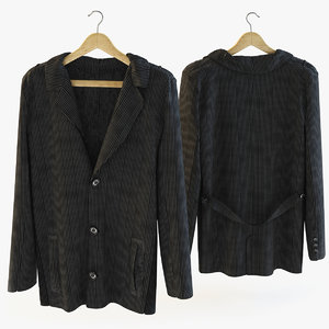 3d model corduroy jacket