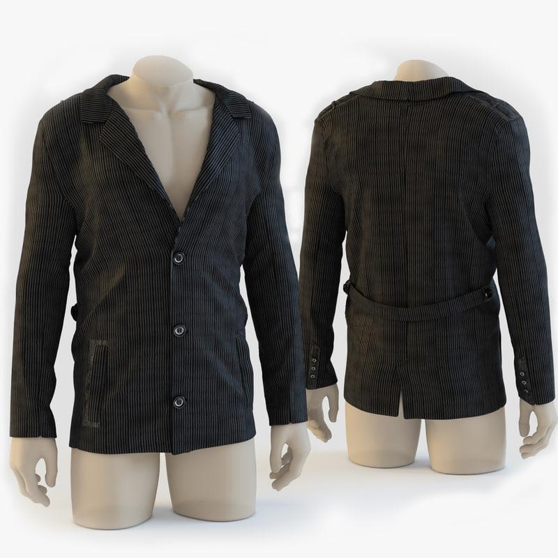 3d model corduroy jacket mannequin