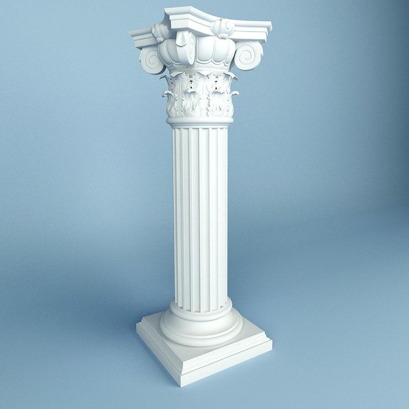 3d model column peterhof 14