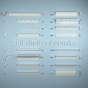 petergof set kornize 3d model