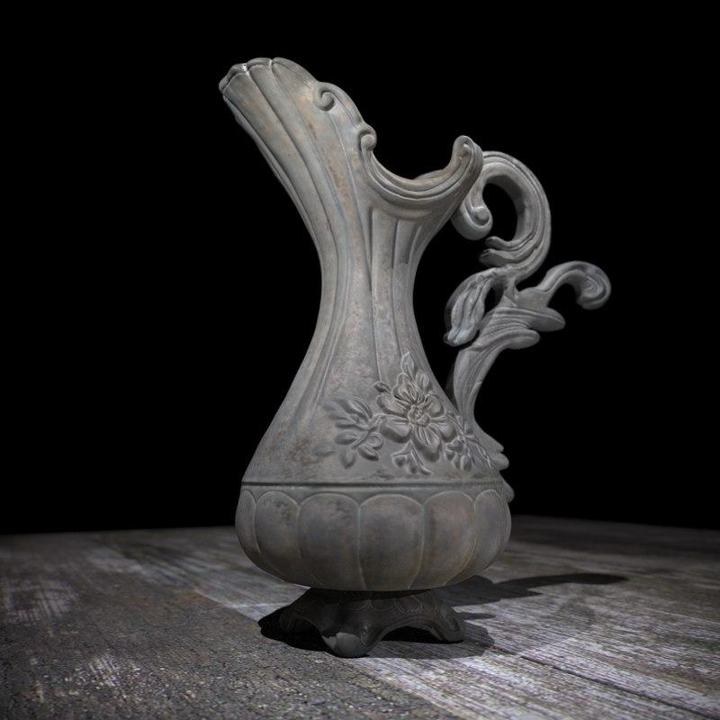 vase greek handmade 3d model