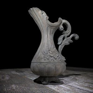 vase greek handmade 3d model