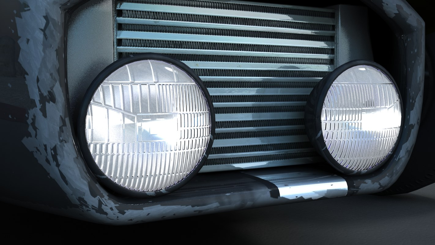 3ds max rear lights retro cars