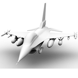 3ds f-16 fighter jet