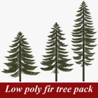 pack fir tree 3d 3ds