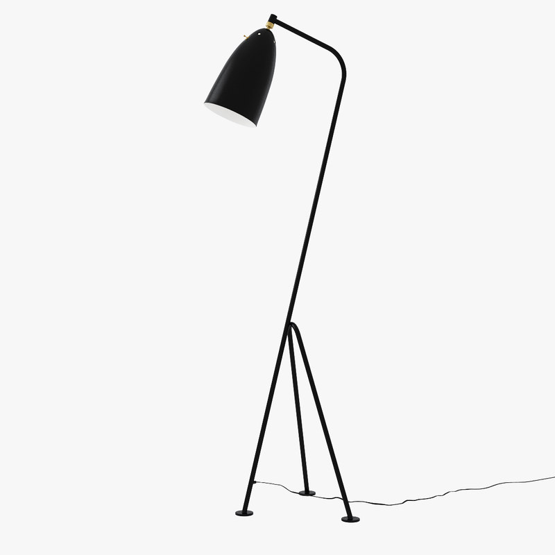 greta grasshopper floor lamp 3d model