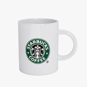 3ds max starbucks mug