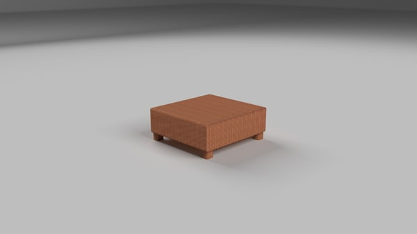 free wicker table 2 3d model