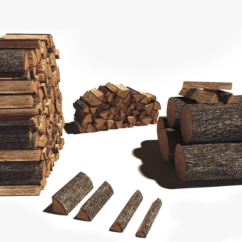 3ds max firewood piles