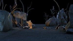 3d model african desert