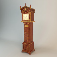 classic standing clock obj