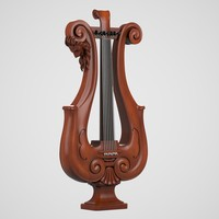 3d antique lyre model