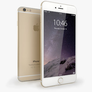 iphone 6 gold mobile phone 3d 3ds