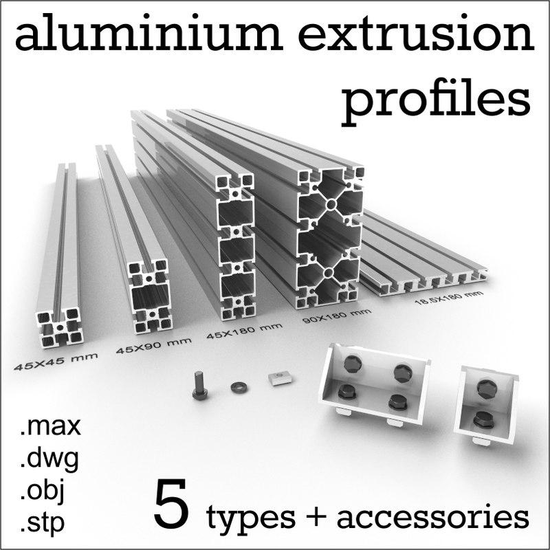 3d aluminium profiles