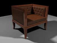 An Armchair model with 3 texturing options