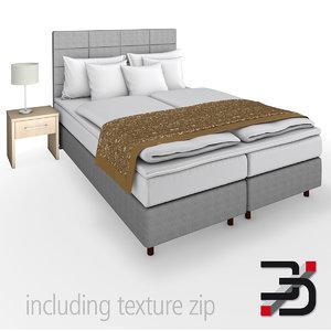 3d model of bedroom bed furniture