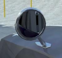3d model retro rear view mirror