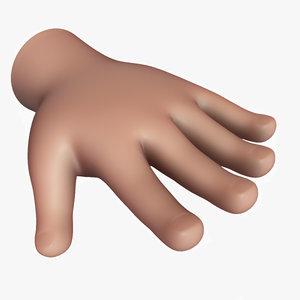 obj cartoon hand v01