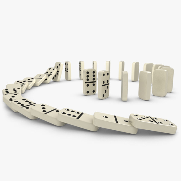 realistic dominoes animation 3d 3ds