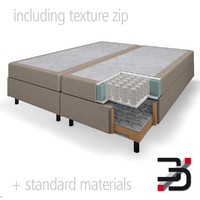 Boxspring bed cut out
