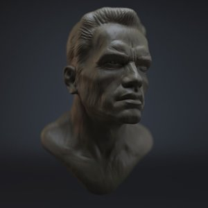 sculpture arnold schwarzenegger obj free