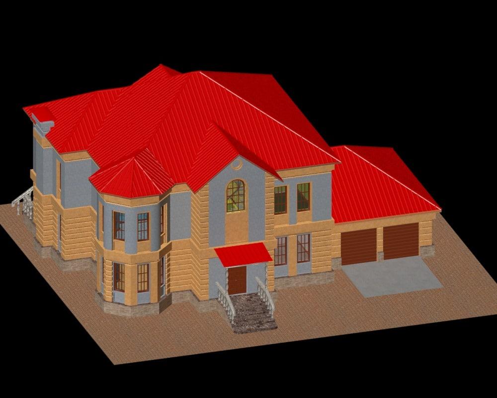 3d cottage bosfor model