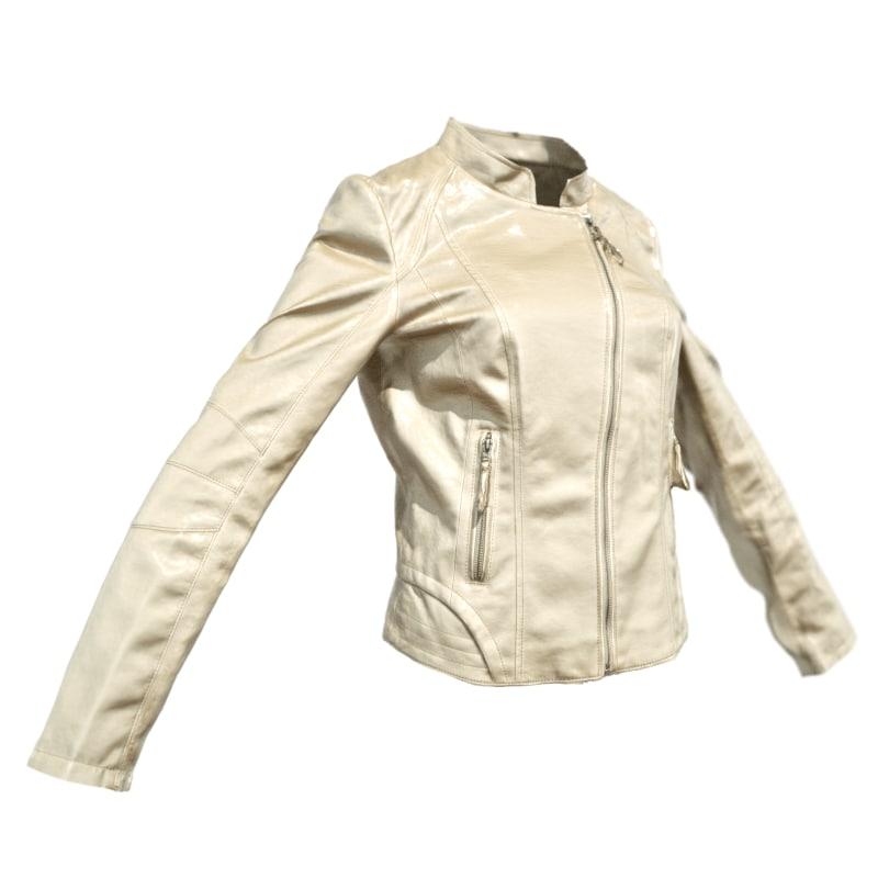 3d model champagne leather jacket