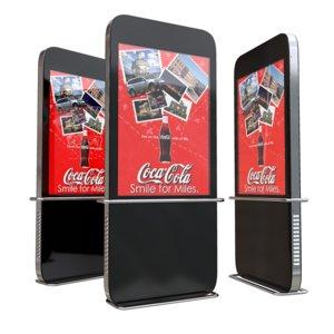 led video panel 3d obj