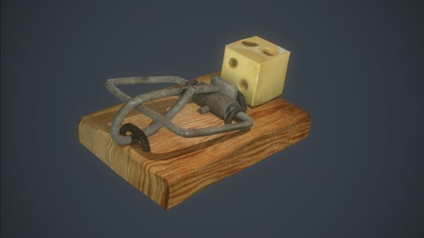 mousetrap add-on mouse 3d model