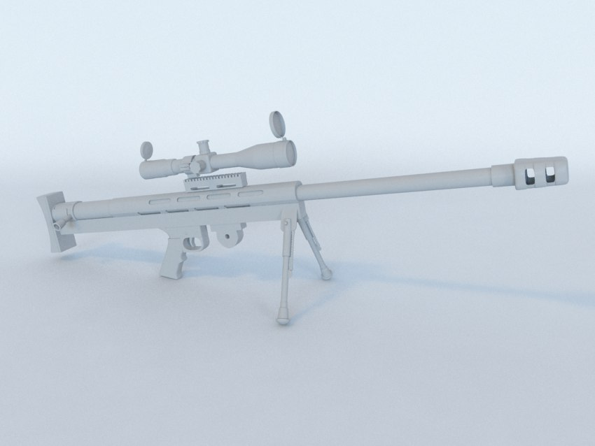 free lar grizzly sniper rifle 3d model
