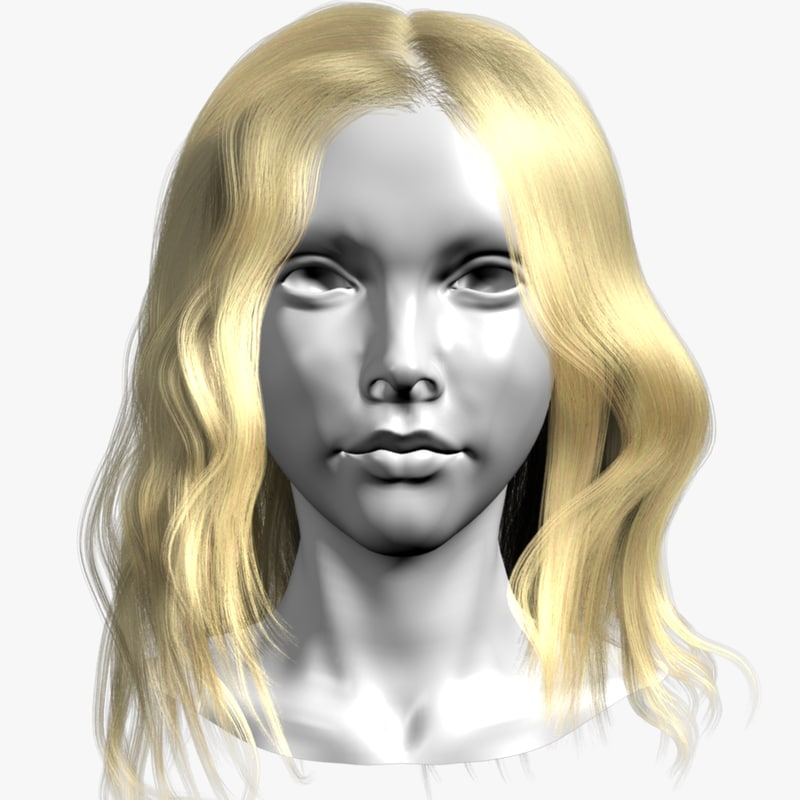 3d style head female model