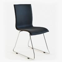 chaise design noire 3d model