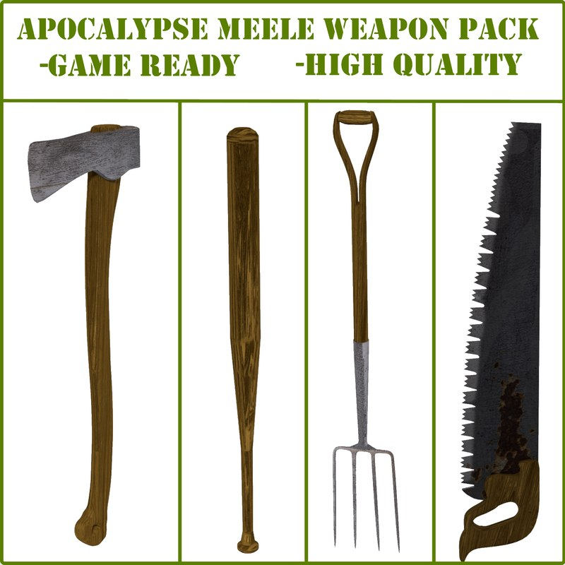3ds max apocalyptic meele pack axe