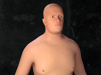 obese man c4d
