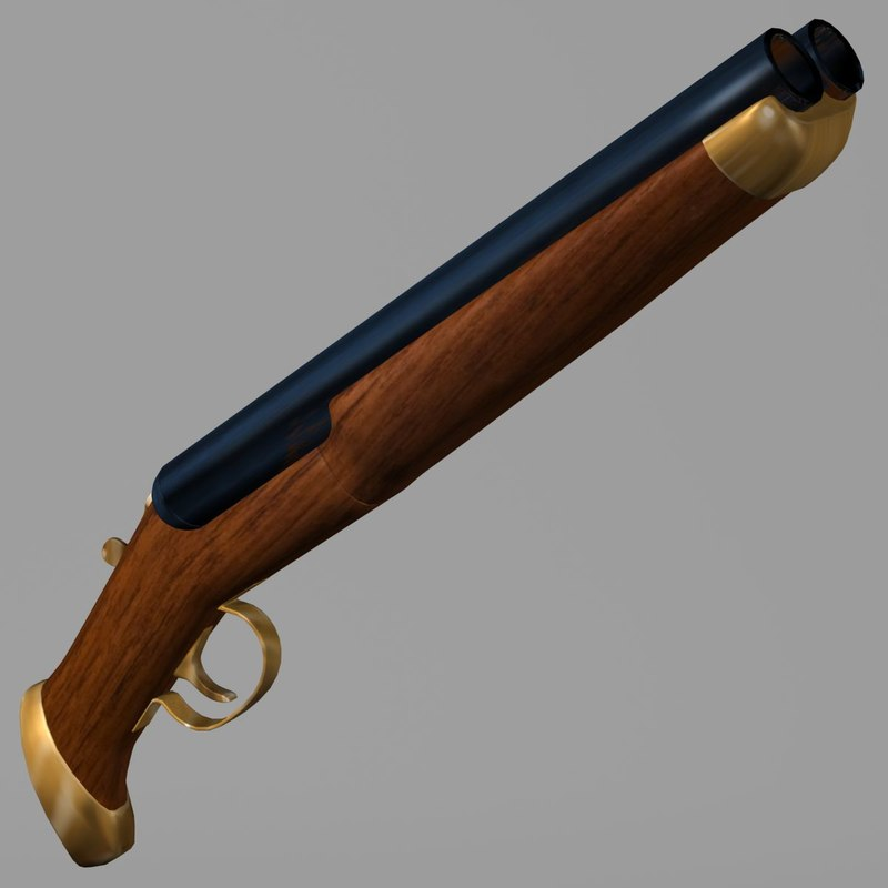 3d model shotgun shot gun