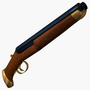 3d model shotgun shot gun