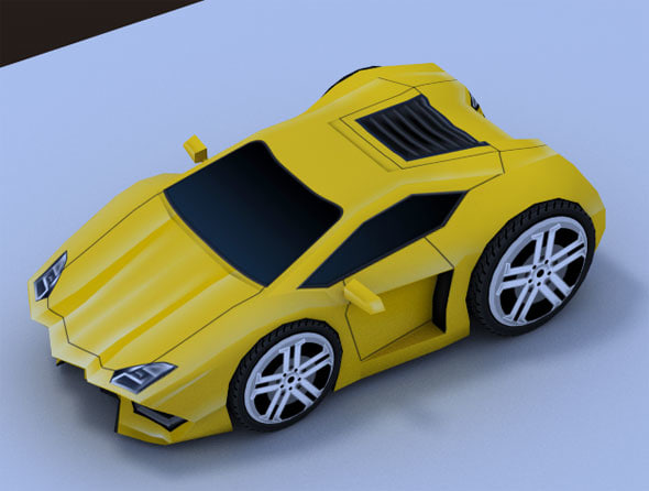 lwo cartoon sport car