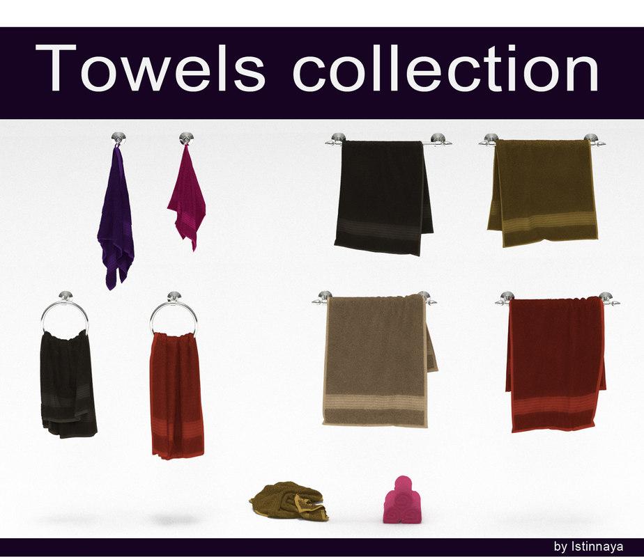 3d fur towel model
