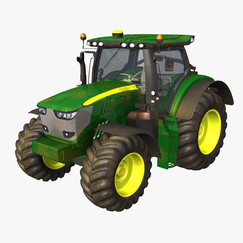 3d model 6210r tractor