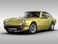 3d model triumph car